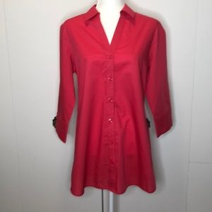 Foxcroft hot pink blouse tunic
